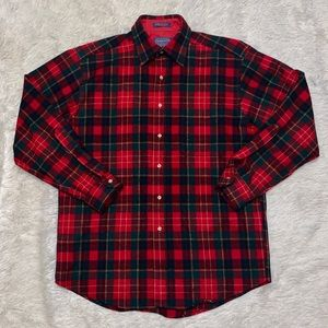 VTG Pendleton Mens Wool Christie Tartan Shirt SZ M